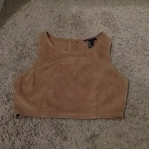 Faux Suede Forever 21 crop top!